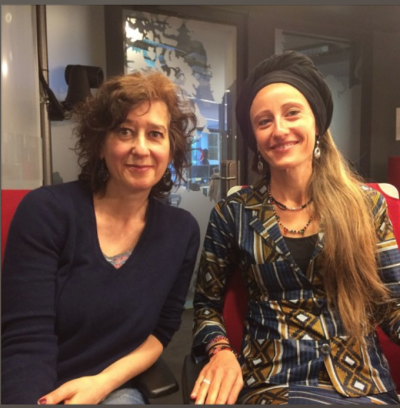 Ariane Kirtley and RFI's Alison Hird